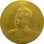 سکه طلا 5000 دینار تصویری 1327 - AU58 - محمدعلی شاه