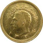سکه طلا ربع پهلوی 1337 - MS62 - محمد رضا شاه
