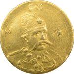سکه طلا 5000 دینار 1320 تصویری - EF45 - مظفرالدین شاه