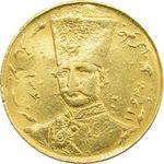 سکه طلا 1 تومان 1306 (136) ارور تاریخ - EF45 - ناصرالدین شاه