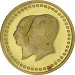 مدال طلا 2.5 گرمی بانک ملی (با کاور پلمپ فابریک) - MS66 - محمد رضا شاه