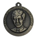 مدال آویز نقره ای مسابقات فوتبال جام ولیعهد بدون تاریخ - AU - محمد رضا شاه