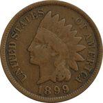 سکه 1 سنت 1899 سرخپوستی - VF35 - آمریکا