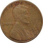 سکه 1 سنت 1944 لینکلن - VF30 - آمریکا