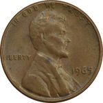 سکه 1 سنت 1965 لینکلن - EF45 - آمریکا