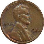 سکه 1 سنت 1966 لینکلن - AU - آمریکا
