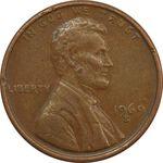 سکه 1 سنت 1969S لینکلن - VF - آمریکا