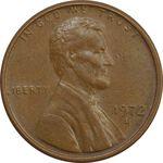 سکه 1 سنت 1972D لینکلن - EF - آمریکا