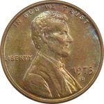 سکه 1 سنت 1973D لینکلن - MS64 - آمریکا