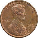 سکه 1 سنت 1976D لینکلن - MS63 - آمریکا