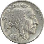 سکه 5 سنت 1936 بوفالو - EF40 - آمریکا