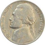 سکه 5 سنت 1941 جفرسون - VF30 - آمریکا
