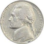 سکه 5 سنت 1968D جفرسون - VF35 - آمریکا