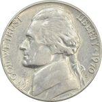 سکه 5 سنت 1970S جفرسون - EF45 - آمریکا