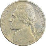 سکه 5 سنت 1972D جفرسون - EF40 - آمریکا
