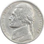 سکه 5 سنت 1973 جفرسون - EF40 - آمریکا