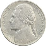 سکه 5 سنت 1990D جفرسون - EF - آمریکا