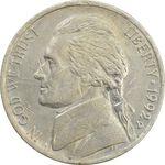سکه 5 سنت 1992D جفرسون - EF40 - آمریکا