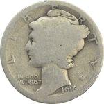 سکه 1 دایم 1916S مرکوری - F - آمریکا