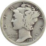 سکه 1 دایم 1923 مرکوری - VF20 - آمریکا