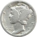 سکه 1 دایم 1927 مرکوری - F - آمریکا