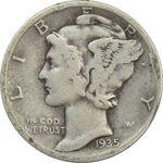 سکه 1 دایم 1935 مرکوری - VF25 - آمریکا