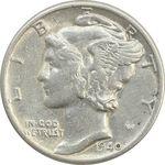 سکه 1 دایم 1940 مرکوری - AU50 - آمریکا