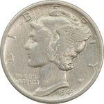 سکه 1 دایم 1943 مرکوری - VF30 - آمریکا