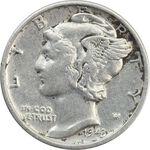 سکه 1 دایم 1943S مرکوری - VF35 - آمریکا