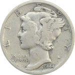 سکه 1 دایم 1944S مرکوری - VF25 - آمریکا