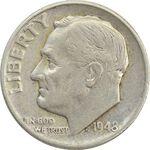 سکه 1 دایم 1948 روزولت - EF40 - آمریکا