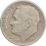 سکه 1 دایم 1948S روزولت - VF35 - آمریکا
