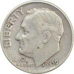 سکه 1 دایم 1950 روزولت - VF30 - آمریکا