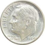 سکه 1 دایم 1964 روزولت - MS63 - آمریکا