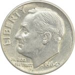 سکه 1 دایم 1964D روزولت - MS62 - آمریکا
