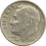 سکه 1 دایم 1965 روزولت - EF - آمریکا