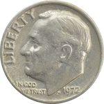 سکه 1 دایم 1972 روزولت - VF35 - آمریکا