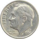 سکه 1 دایم 1992P روزولت - AU - آمریکا
