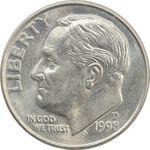 سکه 1 دایم 1998D روزولت - MS64 - آمریکا