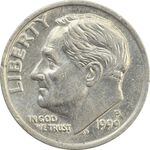 سکه 1 دایم 1999P روزولت - MS63 - آمریکا