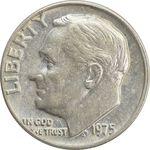 سکه 1 دایم 1975 روزولت - EF40 - آمریکا