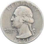سکه کوارتر دلار 1941 واشنگتن - VF35 - آمریکا