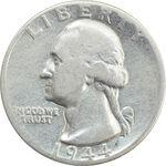 سکه کوارتر دلار 1944 واشنگتن - VF25 - آمریکا