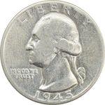 سکه کوارتر دلار 1945 واشنگتن - VF30 - آمریکا