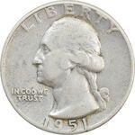 سکه کوارتر دلار 1951 واشنگتن - VF35 - آمریکا