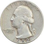 سکه کوارتر دلار 1952 واشنگتن - VF35 - آمریکا