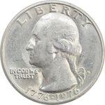 سکه کوارتر دلار 1976D جشن دویست سالگی واشنگتن - AU - آمریکا