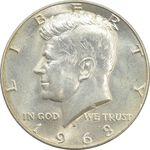 سکه نیم دلار 1968D کندی - MS63 - آمریکا