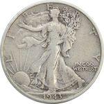 سکه نیم دلار 1943S نماد آزادی - VF25 - آمریکا