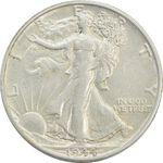 سکه نیم دلار 1944S نماد آزادی - AU50 - آمریکا